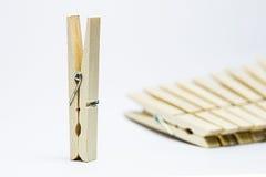 Pinza de madera Fotografía de archivo libre de regalías