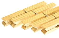 Pinzas de madera Fotografía de archivo libre de regalías
