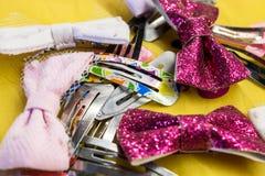 Pinzas de pelo para las muchachas Imagen de archivo libre de regalías