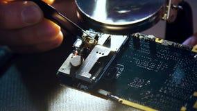 Pinzas del circuito impreso del mantenimiento del servicio de teléfono metrajes