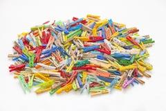 Pinzas multicoloras Foto de archivo libre de regalías