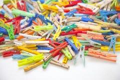 Pinzas multicoloras Imagen de archivo
