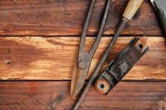 Pinze e forbici per metallo fotografia stock