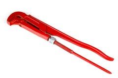 Pinze rosse della pompa idraulica isolamento Immagini Stock