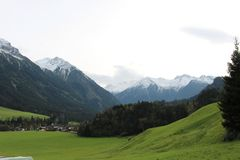 Pinzgau风景 免版税库存照片