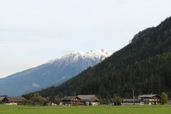 Pinzgau-Landschaft Stockfotos