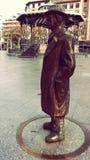 Pio Baroja Sculpture Outdoors. Pio Baroja Writer Sculpture at Irun Basque Country Spain Royalty Free Stock Photos