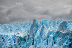 Pio XI Glacier - Chile. Pio XI is as big as Santiago, with a surface of 1265 squared kilometers, which grows 50 meters in height, length and density every day Stock Photography