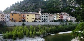 Piobbico (марты), историческая деревня Стоковое фото RF