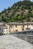 Piobbico, ancient bridge. Piobbico (Pesaro Urbino, Marches, Italy) - Old bridge Stock Photography