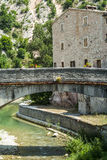 Piobbico, ancient bridge. Piobbico (Pesaro Urbino, Marche, Italy) - Ancient bridge Stock Photos