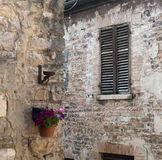 Piobbico (Märze), historisches Dorf Lizenzfreie Stockfotografie