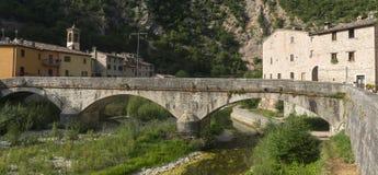 Piobbico (Marche), villaggio storico Fotografie Stock Libere da Diritti