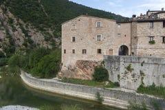 Piobbico (Marches), historic village Stock Images