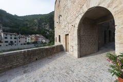 Piobbico (Marches), village historique Images libres de droits