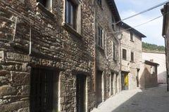 Piobbico (Marches), village historique Image stock