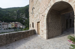 Piobbico (Marches), village historique Photos libres de droits