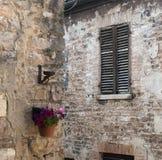 Piobbico (Marches), village historique Photographie stock libre de droits