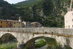 Piobbico (Marsen), historisch dorp Stock Foto