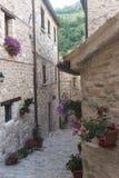 Piobbico (Marsen), historisch dorp Stock Afbeelding