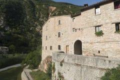 Piobbico (marsze), historyczna wioska Fotografia Stock