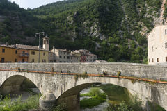 Piobbico (marzos), pueblo histórico Foto de archivo