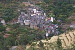 Piodao村庄  免版税库存图片