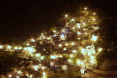 Piodao at night Royalty Free Stock Images