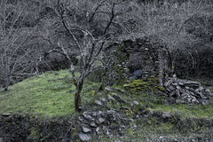 Piodao is a very old little mountain village,in Arganil,Portugal Royalty Free Stock Images