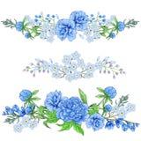 Pioen en de lentebloemensamenstelling royalty-vrije stock afbeelding