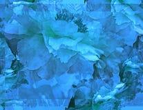 Pioenfantasie in Blauw Royalty-vrije Stock Foto's
