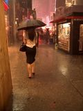 Pioggia 2 di NYC Fotografia Stock