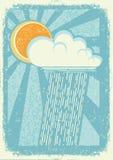 Pioggia. Immagine Stock