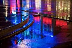 Pioggia al neon Immagini Stock