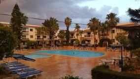Pioggia al tramonto Fotografia Stock