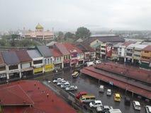 Pioggia alla città Fotografia Stock Libera da Diritti