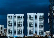 Pioggia blu immagine stock