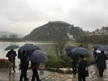 Pioggia in Cina Fotografia Stock Libera da Diritti
