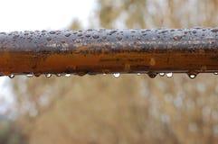 Pioggia con bello paesaggio Fotografia Stock