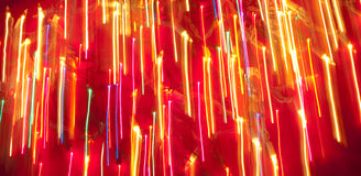 Pioggia degli indicatori luminosi di Natale Immagini Stock Libere da Diritti
