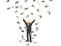 Pioggia dei soldi Immagine Stock