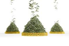 Pioggia dei soldi Immagine Stock Libera da Diritti