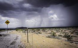 Pioggia del deserto Fotografie Stock