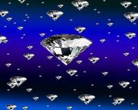 Pioggia del diamante Immagini Stock