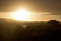 Pioggia del sole Fotografia Stock