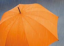 Pioggia dell'ombrello Immagini Stock