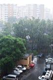 Pioggia della città fotografie stock