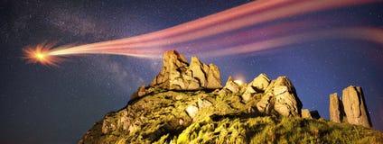 Pioggia della meteora Fotografie Stock Libere da Diritti