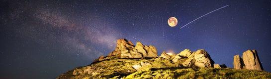 Pioggia della meteora Fotografia Stock Libera da Diritti