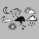 Pioggia della natura di clima del fondo del tempo del cielo di vettore illustrazione di stock